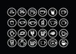 Coffee cup set or Tea cup icon collection design