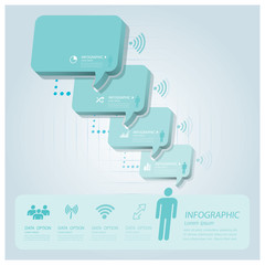 Business Infographic With Communication Speech Bubble Vector Des