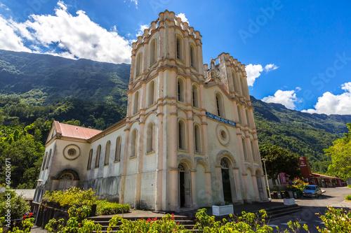 canvas print picture Church of Salazie, La Réunion