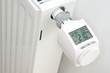Leinwanddruck Bild - Elektronischer Heizungsthermostat  in der Heizphase