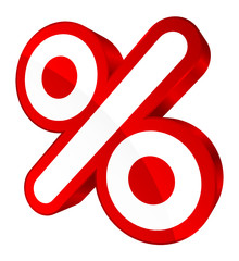 Percent Sign Sale Red Rounded