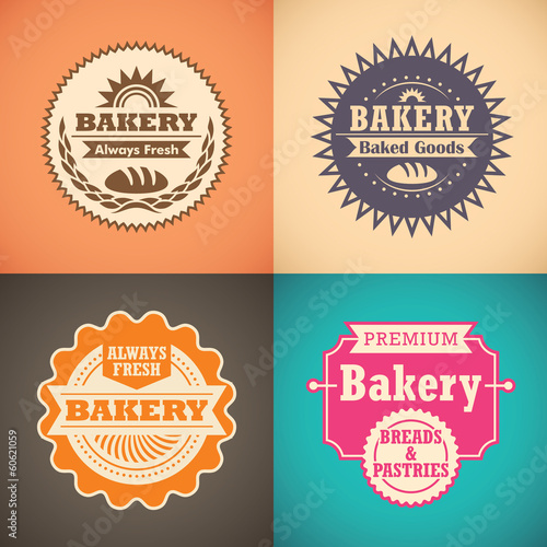 Retro bakery labels.