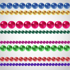 Rows of multicolored vector beads