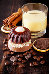 Coffee and chocolate soap with cinnamon