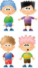 Симпатичные мальчики мультфильм с разными эмоциями