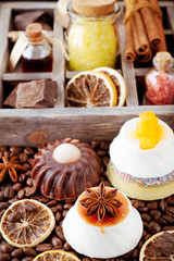Handmade soap coffee, spices and chocolate. Spa and body care.