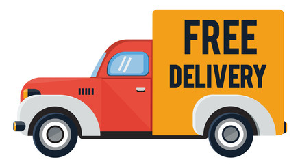 Delivery truck  flat illustration