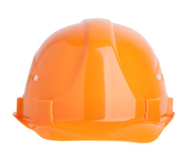 Protective construction helmet orange