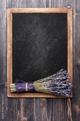 Lavender and vintage chalk board menu