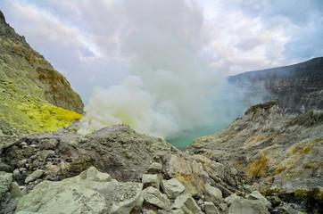 Kawah Ijen Volcano,Java island