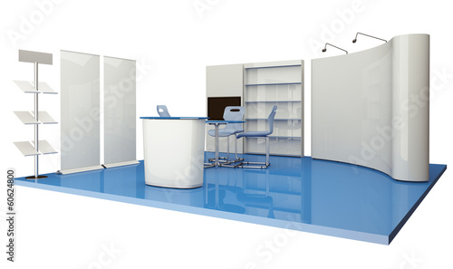 Advertising elements exhibition stand - 60624800