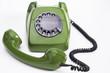canvas print picture - Grünes Telefon