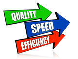 quality, speed, efficiency  in arrows