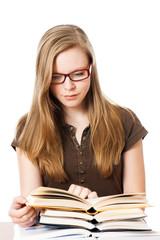 Jugendliche lernt