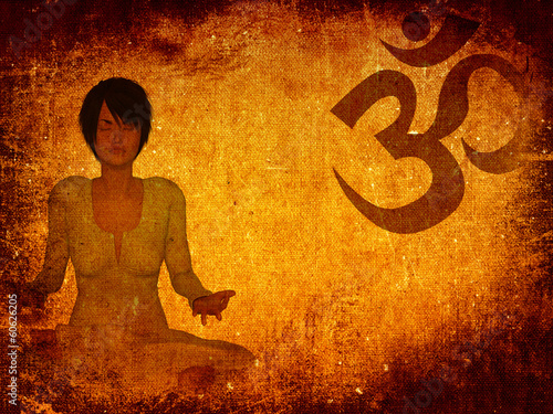 Meditation grunge background