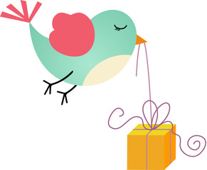 Bird and Gift Box