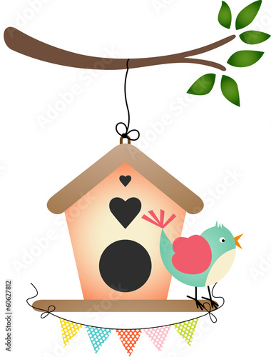 Bird and Birdhouse