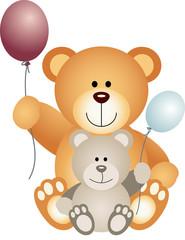 Teddy Bears with Balloons