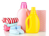 Softener dryers and washing powder with children clothes