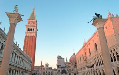San Marco square at dusk