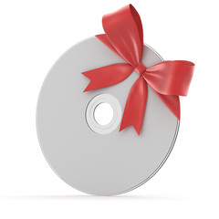 gift disk with a bow