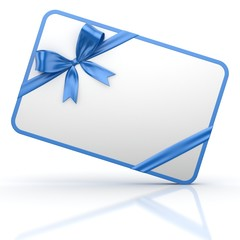 Gift Card with Blue Gift Bow