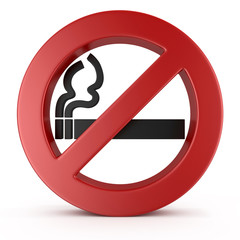 No Smoking Sign, on white background