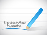 everybody needs inspiration illustration design