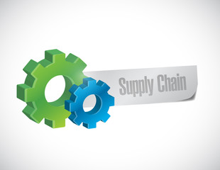 supply chain sign illustration design