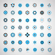 Business Icons Set - Isolated On Gray Background