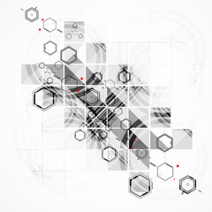 abstract chemical formula technology business background