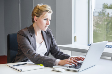 Executive business woman with notebook