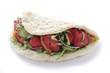 chicken tikka naan bread sandwich