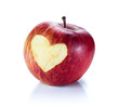 heart in red apple