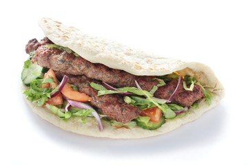 Indian Shish kofta kofte kebab naan sandwich