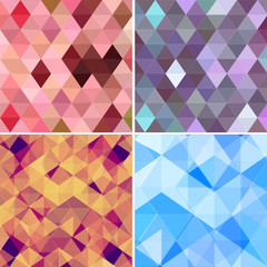 Set of Beauty and Fashion concept backgrounds