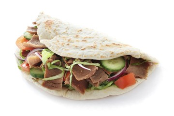 Indian donner kebab naan sandwich