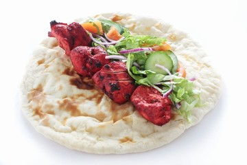 chicken tikka naan bread sandwich