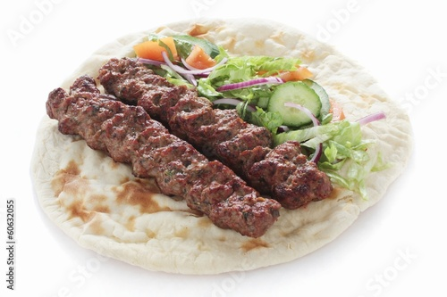 shish kofta kofte kebab naan sandwich