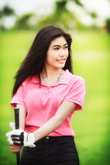 Asia girl golf player