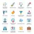 SEO & Internet Marketing Flat Icons - Set 2