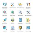 SEO & Internet Marketing Flat Icons - Set 1