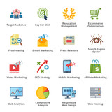 SEO & Internet Marketing Flat Icons - Set 3
