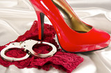 Handcuffs and high heel
