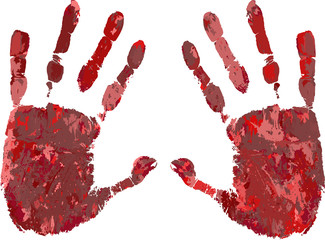 Fingerprint-Hand-Red-Blood