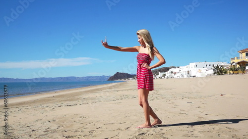 Bahia Kino Beach Woman Sundress Picture