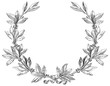 Vector laurel wreath at engraving style. - 60633827