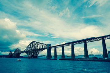 Forth railway bridge near Edinburgh