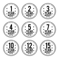 Black White Warranty Badges
