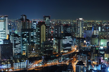 osaka japan night landscape